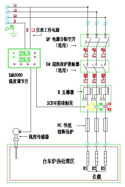 固态继电器/接触器 + 温度传感器